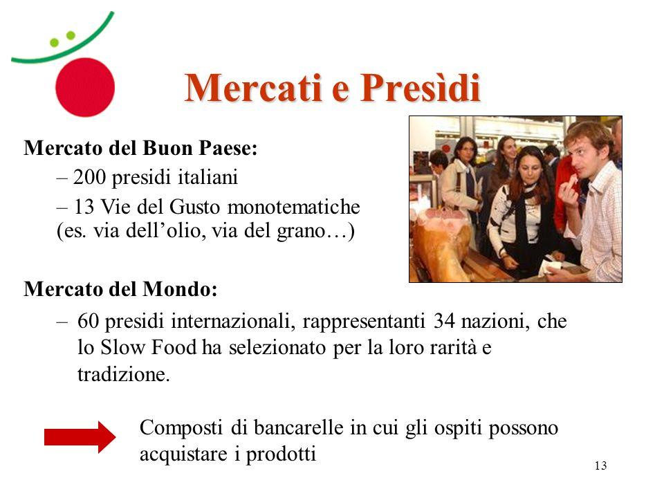 Mercati e Presìdi Mercato del Buon Paese: 200 presidi italiani