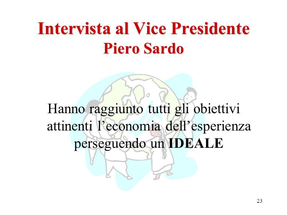 Intervista al Vice Presidente Piero Sardo
