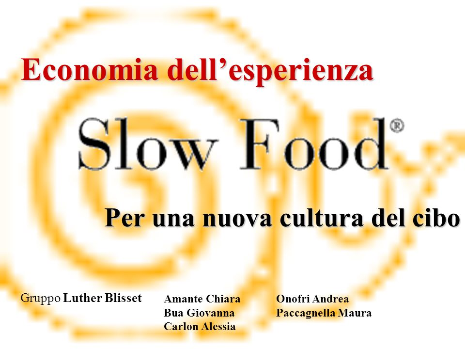 Per una nuova cultura del cibo