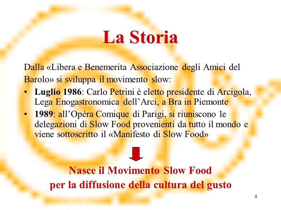 Nasce il Movimento Slow Food per la diffusione della cultura del gusto