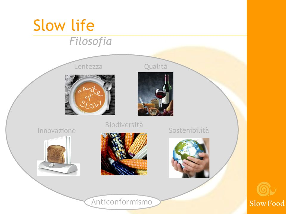 Slow life Filosofia Anticonformismo Slow Food Lentezza Qualità