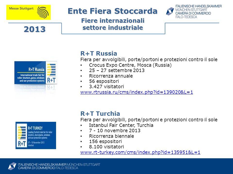 Ente Fiera Stoccarda 2013 Fiere internazionali settore industriale