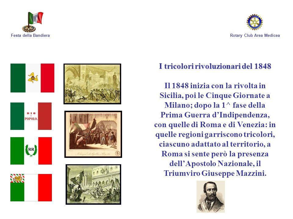 I tricolori rivoluzionari del 1848