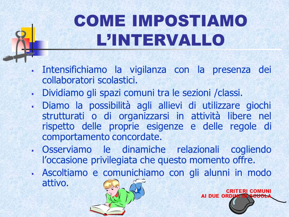 COME IMPOSTIAMO L'INTERVALLO