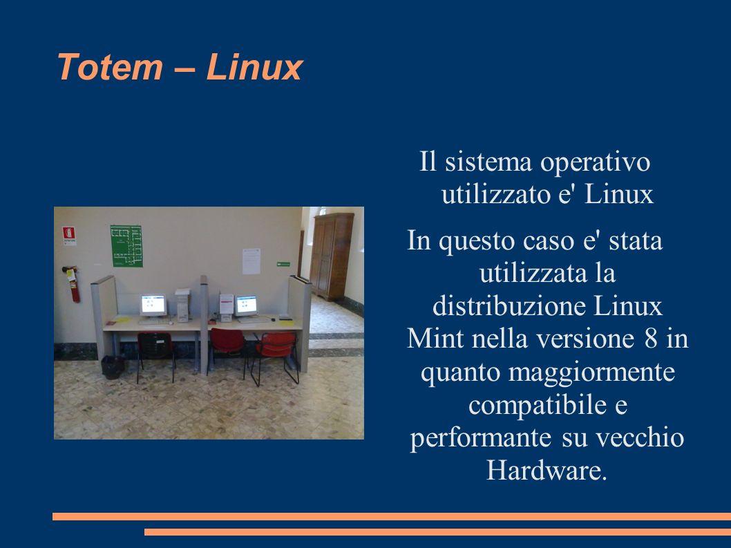 Il sistema operativo utilizzato e Linux