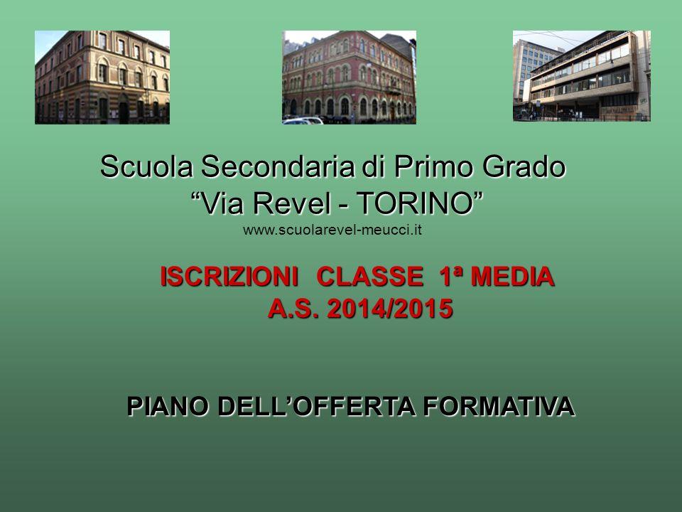 ISCRIZIONI CLASSE 1ª MEDIA PIANO DELL'OFFERTA FORMATIVA