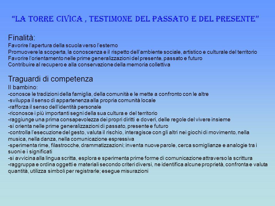 LA TORRE CIVICA , TESTIMONE DEL PASSATO E DEL PRESENTE