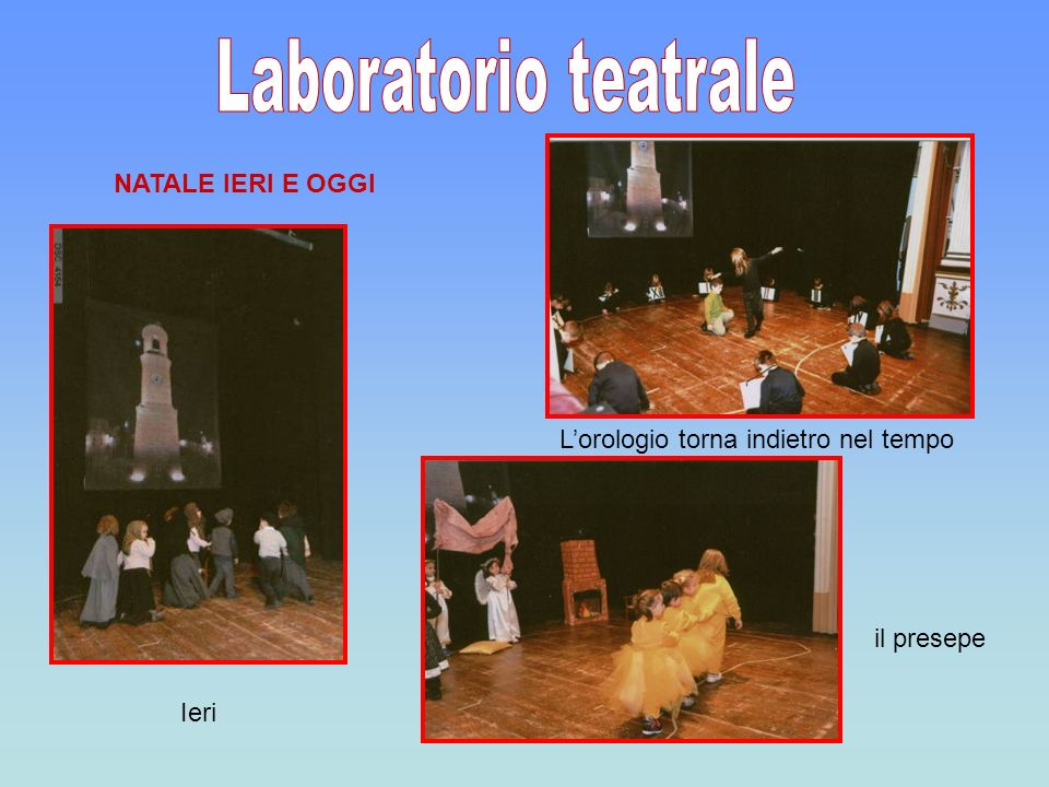 Laboratorio teatrale NATALE IERI E OGGI