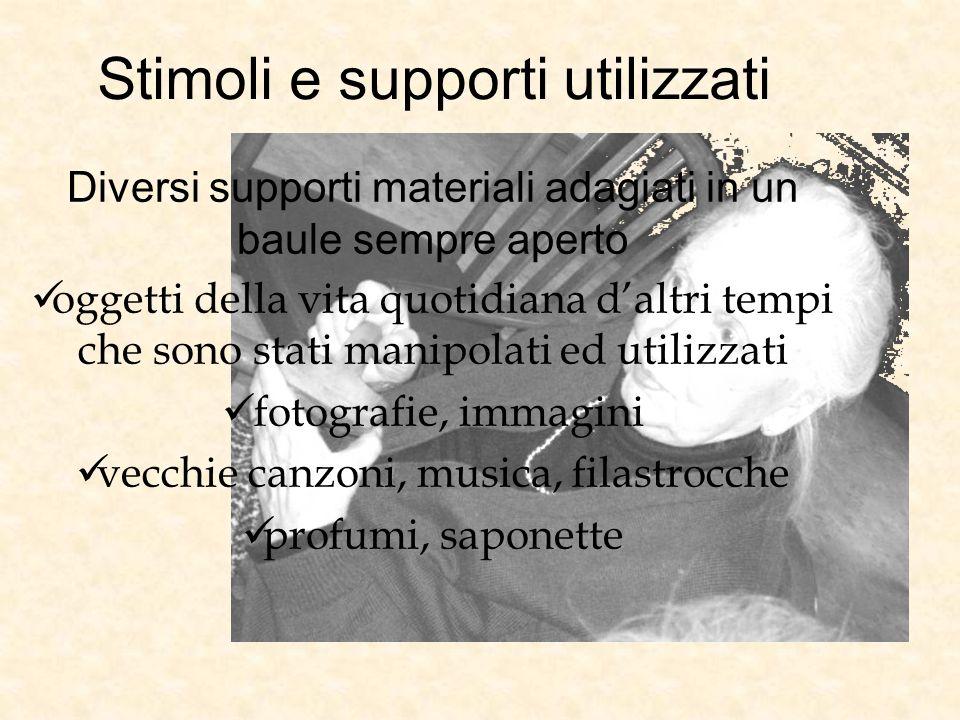 Stimoli e supporti utilizzati