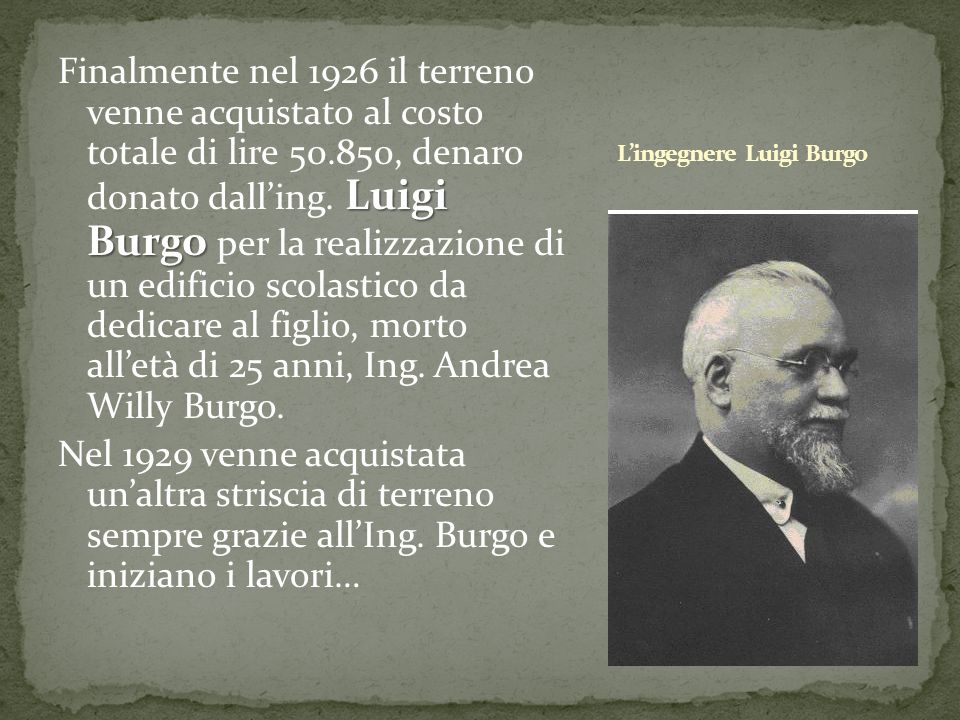 L'ingegnere Luigi Burgo