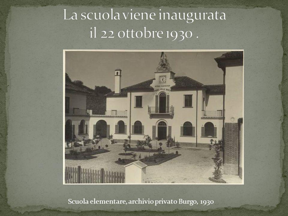 La scuola viene inaugurata il 22 ottobre 1930 .