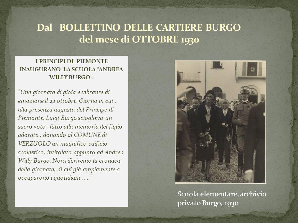 Dal BOLLETTINO DELLE CARTIERE BURGO del mese di OTTOBRE 1930