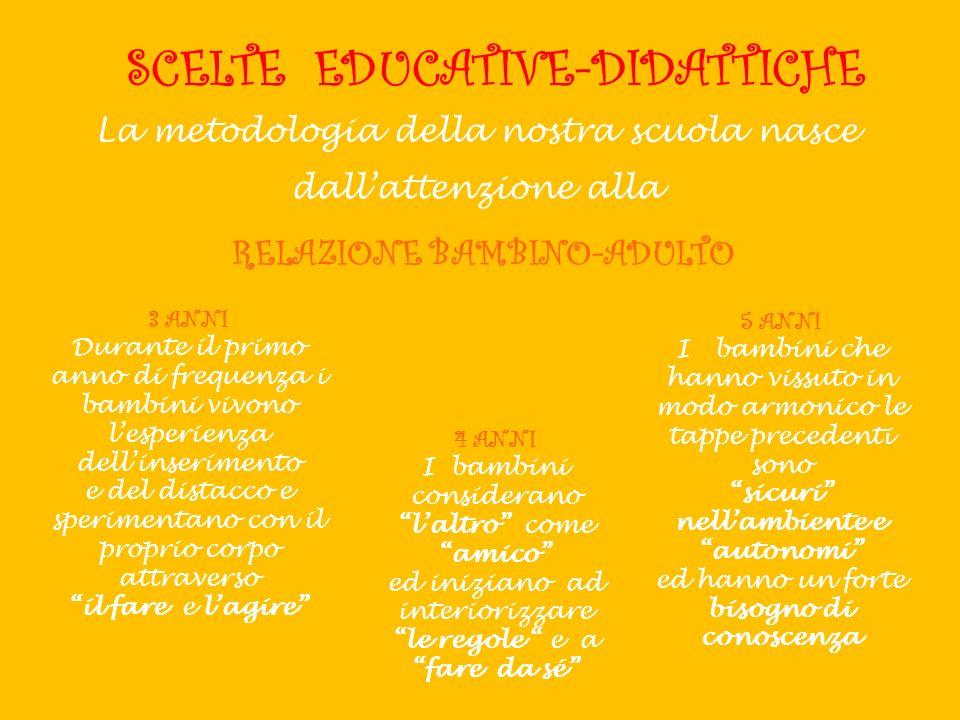 SCELTE EDUCATIVE-DIDATTICHE sicuri nell'ambiente e autonomi