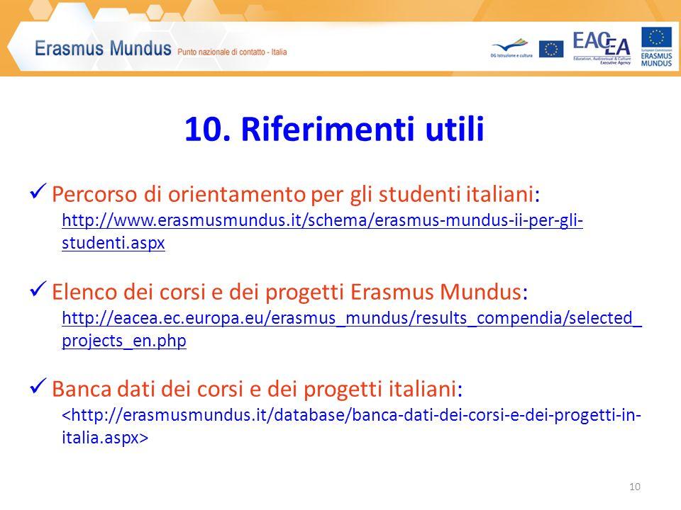 Punto nazionale di contatto Erasmus Mundus