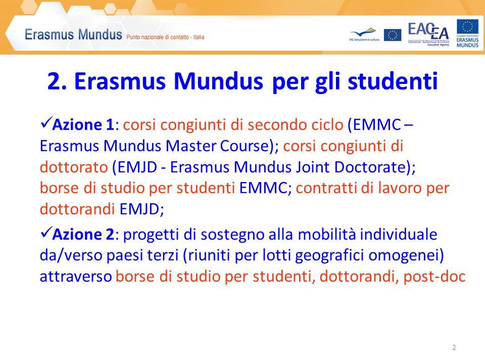 3. Cosa posso fare in Erasmus Mundus