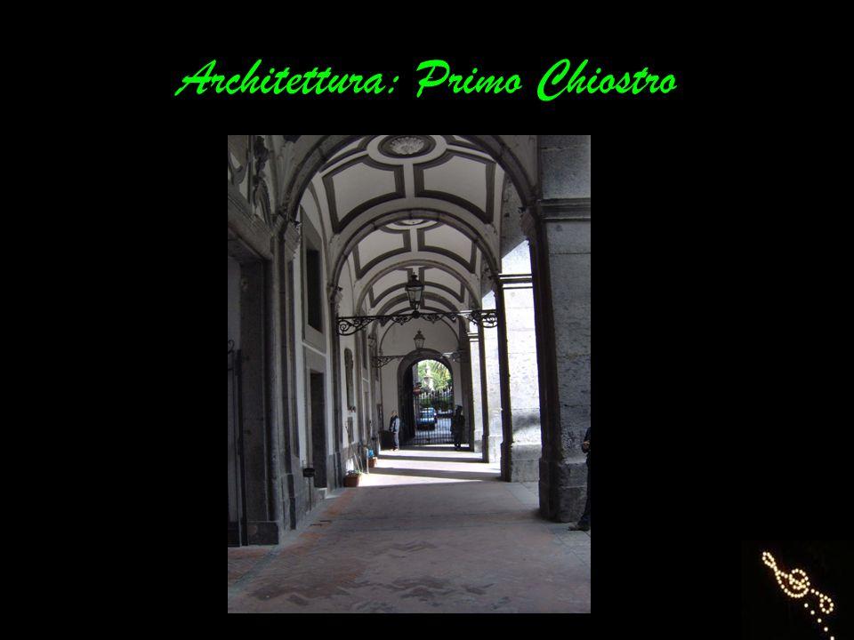 Architettura: Primo Chiostro