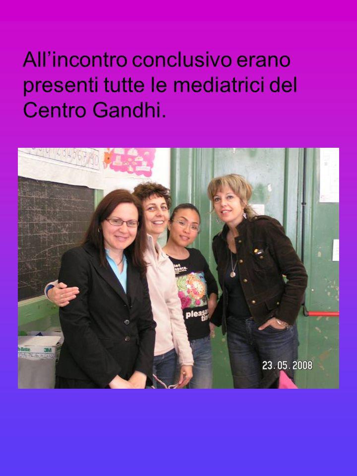 All'incontro conclusivo erano presenti tutte le mediatrici del Centro Gandhi.
