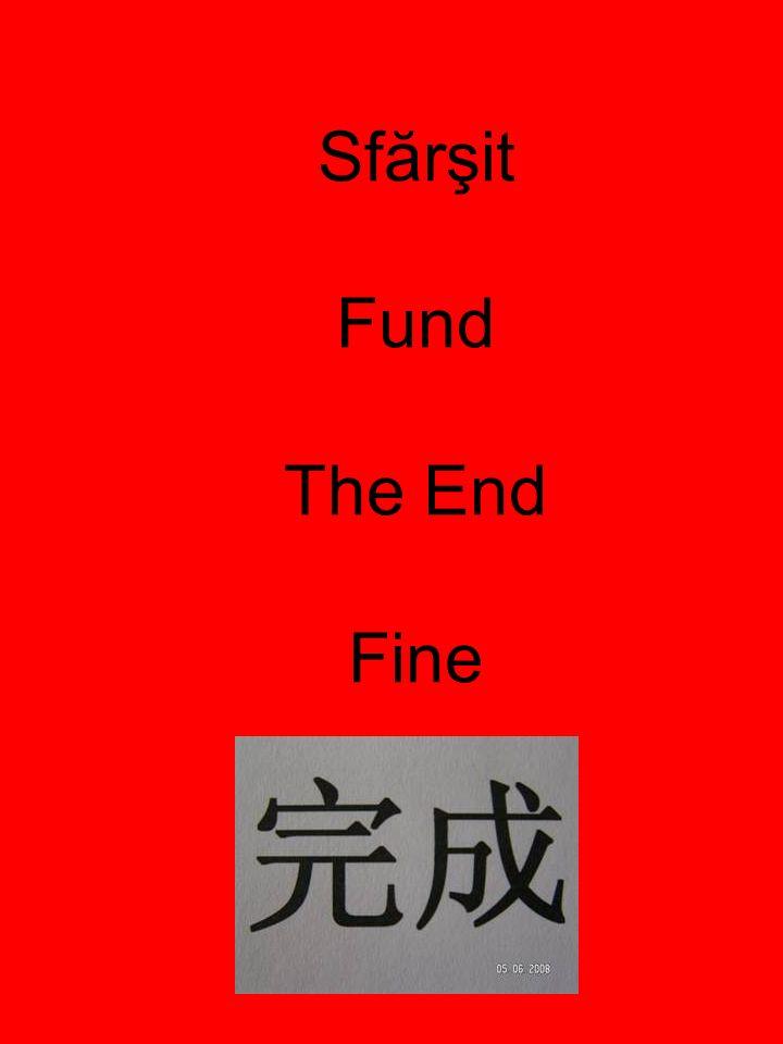 Sfărşit Fund The End Fine