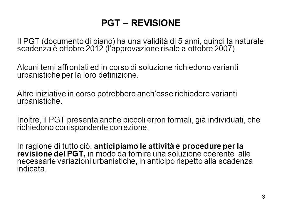 PGT – REVISIONE