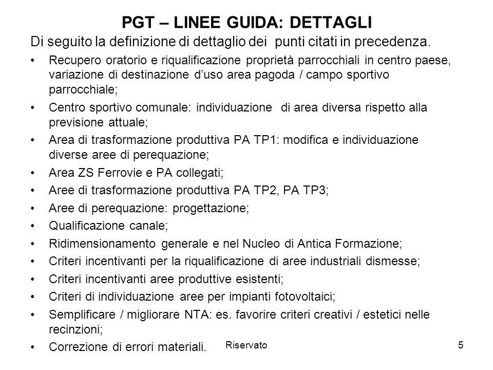 PGT – LINEE GUIDA: DETTAGLI