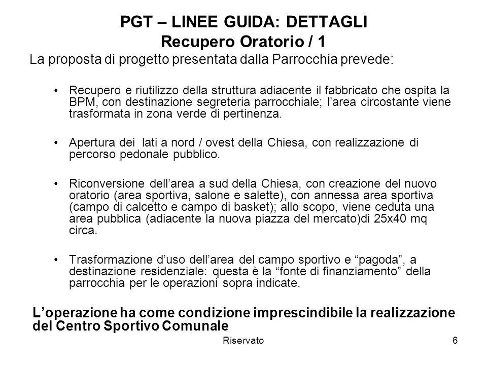 PGT – LINEE GUIDA: DETTAGLI Recupero Oratorio / 1