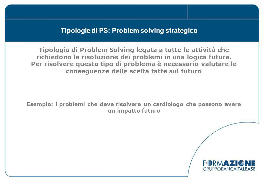 Tipologie di PS: Problem solving strategico
