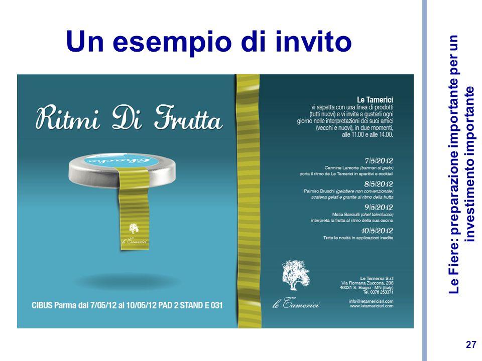 Un esempio di invito