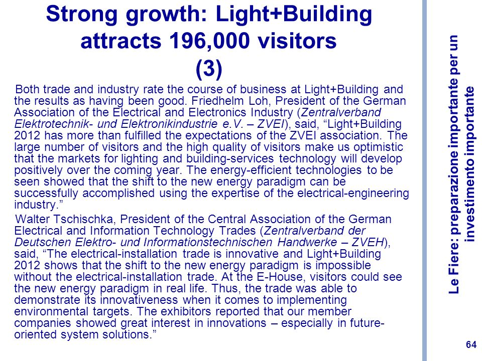 Strong growth: Light+Building attracts 196,000 visitors (3)
