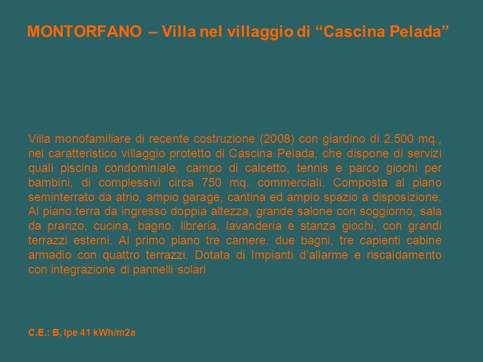 MONTORFANO – Villa nel villaggio di Cascina Pelada