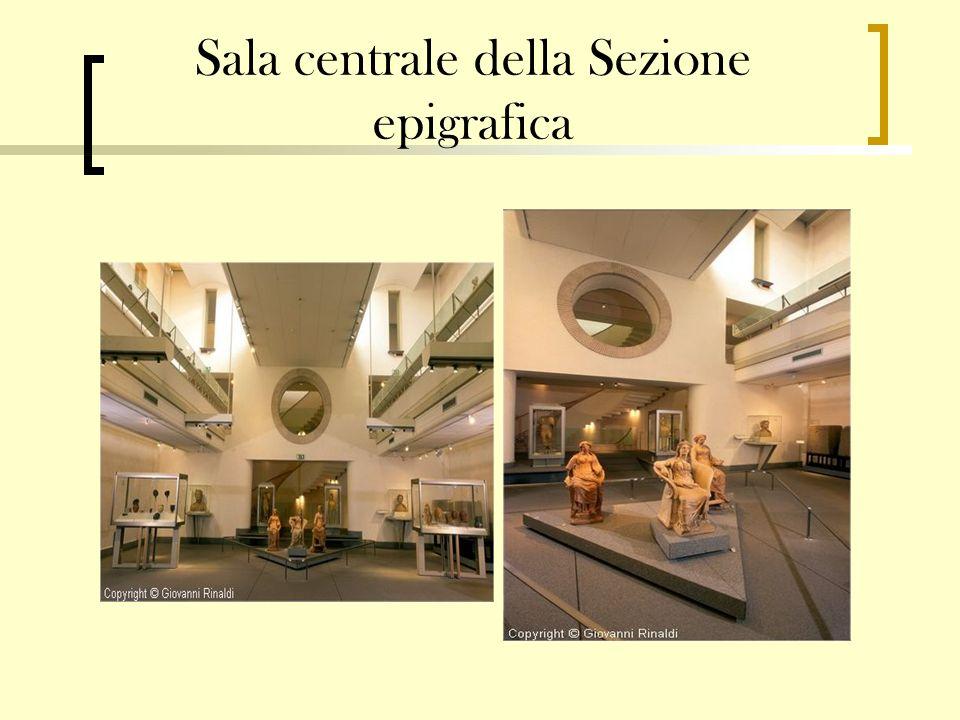 Sala centrale della Sezione epigrafica