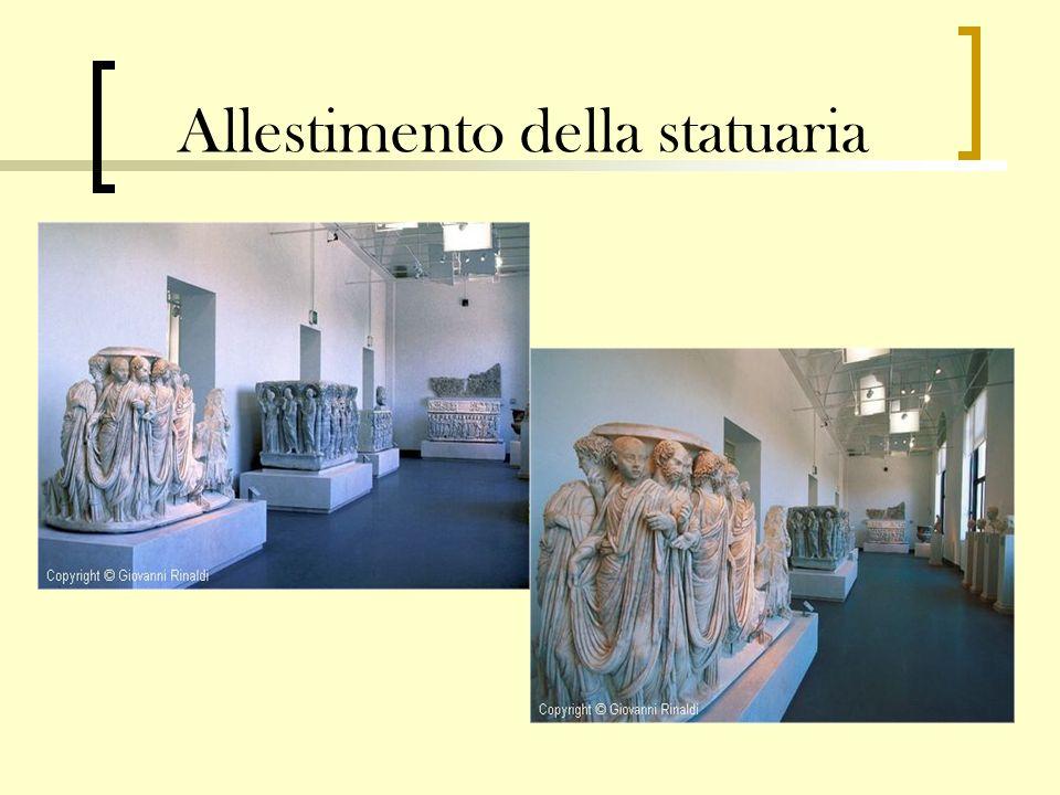 Allestimento della statuaria