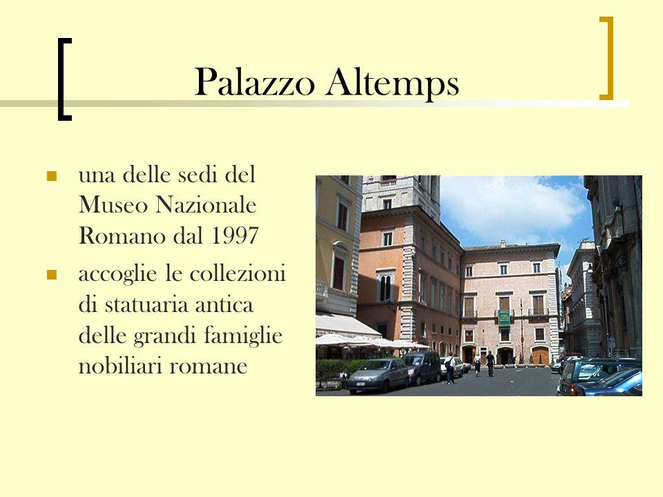 Palazzo Altemps una delle sedi del Museo Nazionale Romano dal 1997