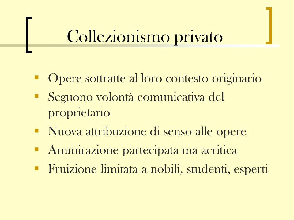 Collezionismo privato