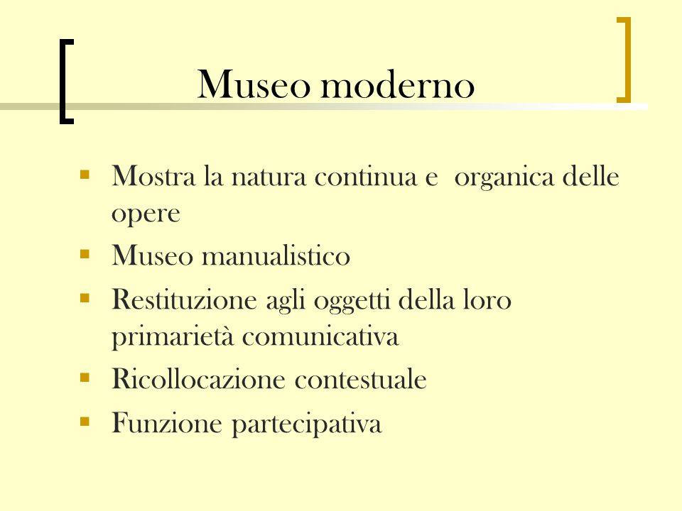 Museo moderno Mostra la natura continua e organica delle opere
