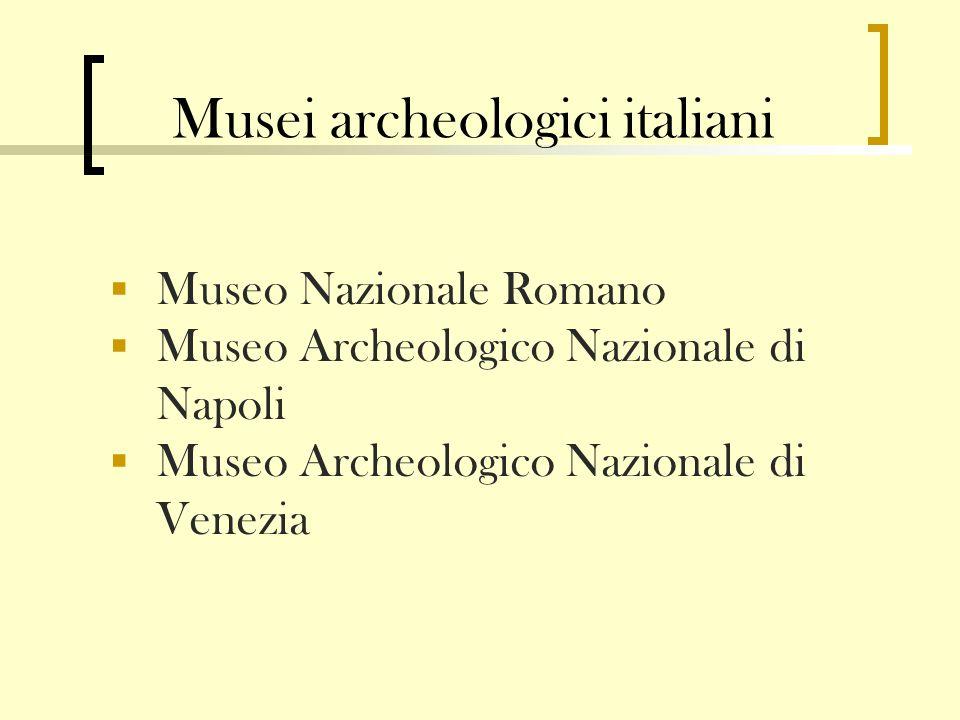 Musei archeologici italiani