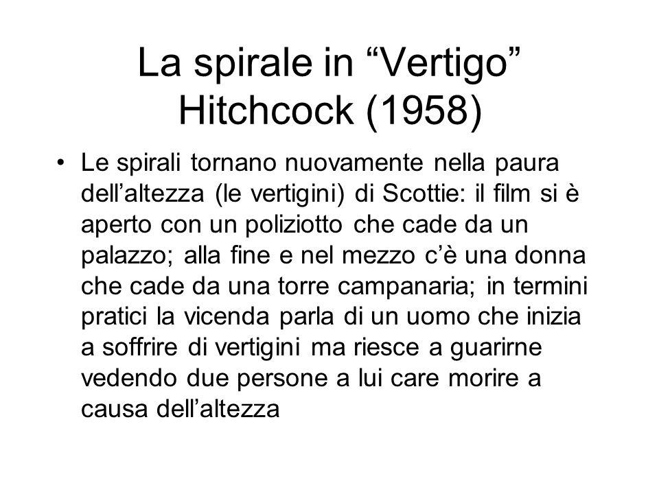 La spirale in Vertigo Hitchcock (1958)