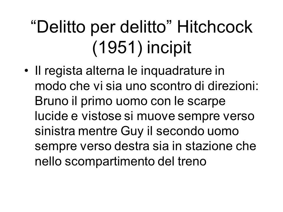 Delitto per delitto Hitchcock (1951) incipit