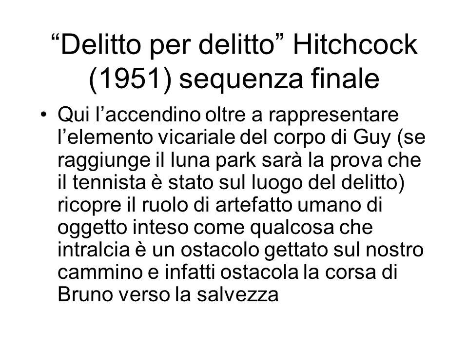 Delitto per delitto Hitchcock (1951) sequenza finale