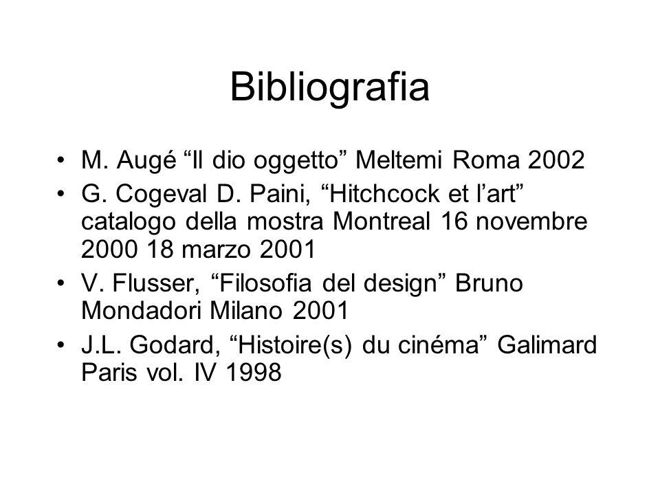 Bibliografia M. Augé Il dio oggetto Meltemi Roma 2002