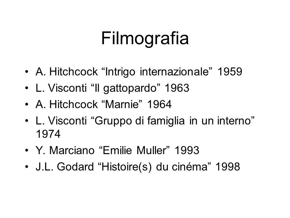 Filmografia A. Hitchcock Intrigo internazionale 1959