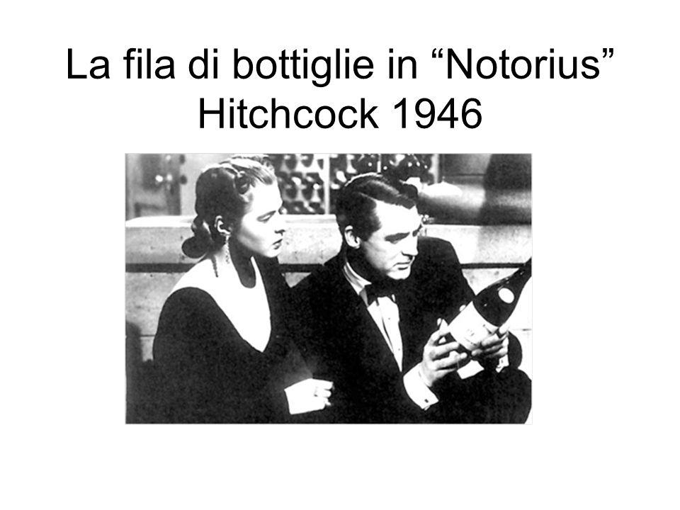 La fila di bottiglie in Notorius Hitchcock 1946