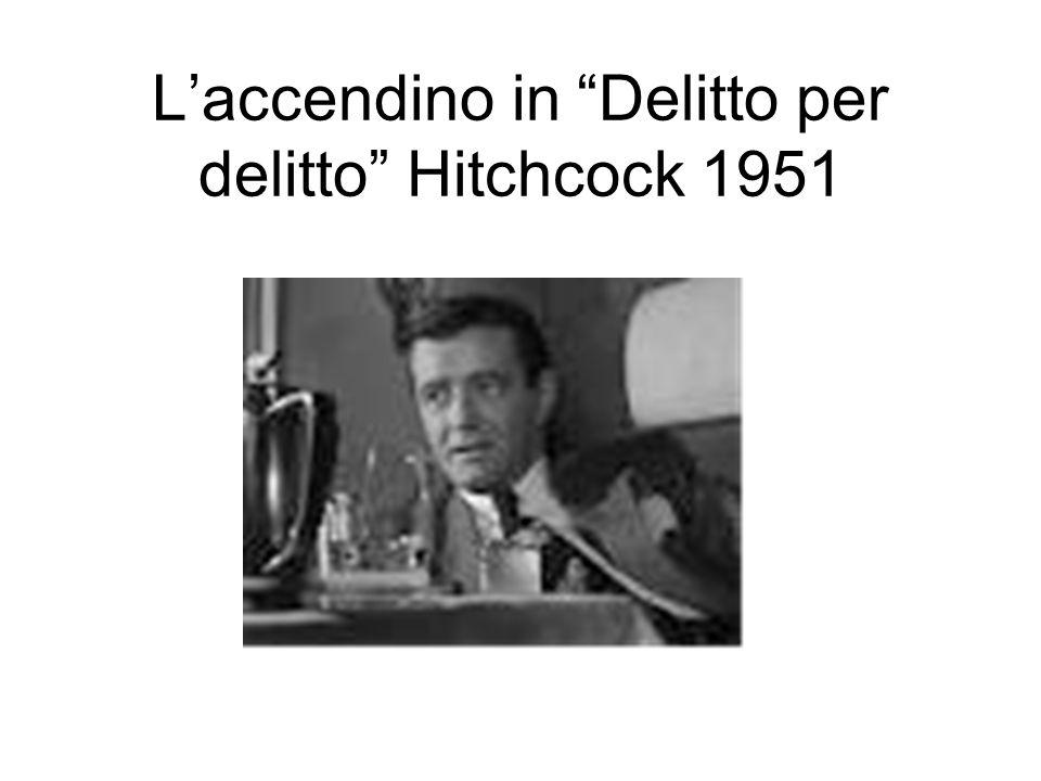 L'accendino in Delitto per delitto Hitchcock 1951