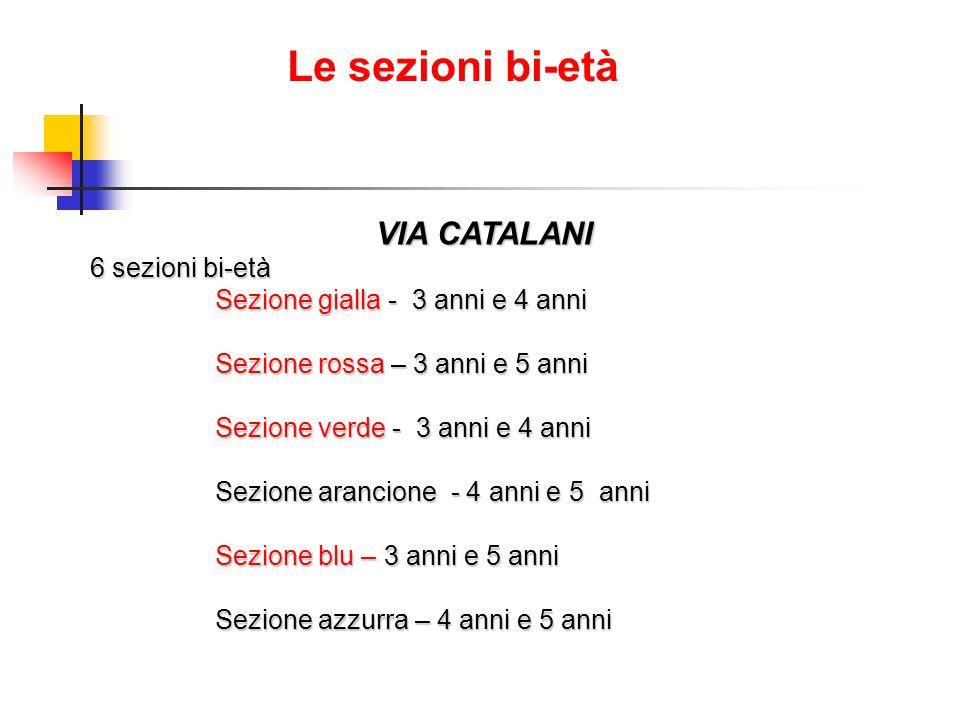 Le sezioni bi-età VIA CATALANI 6 sezioni bi-età