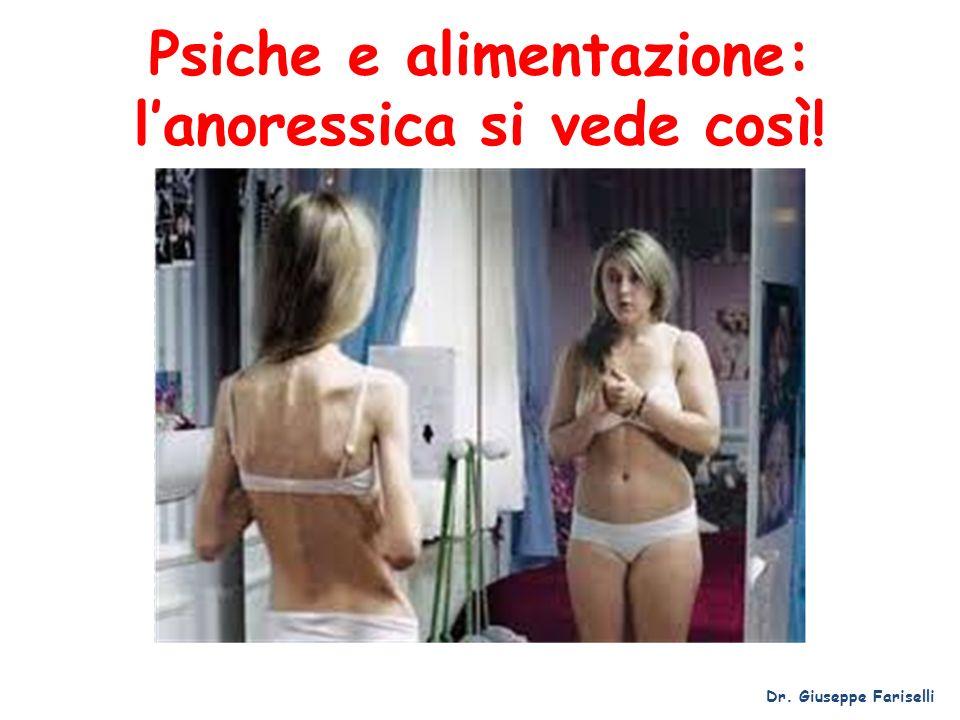 Psiche e alimentazione: l'anoressica si vede così!