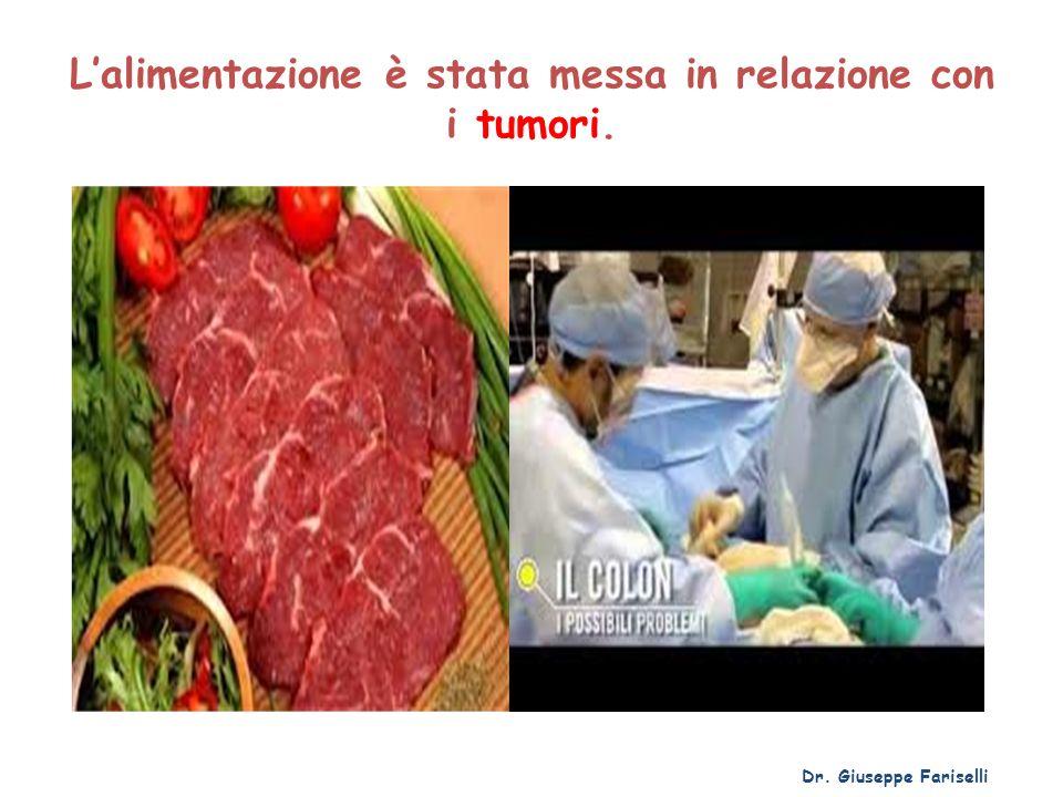 L'alimentazione è stata messa in relazione con i tumori.