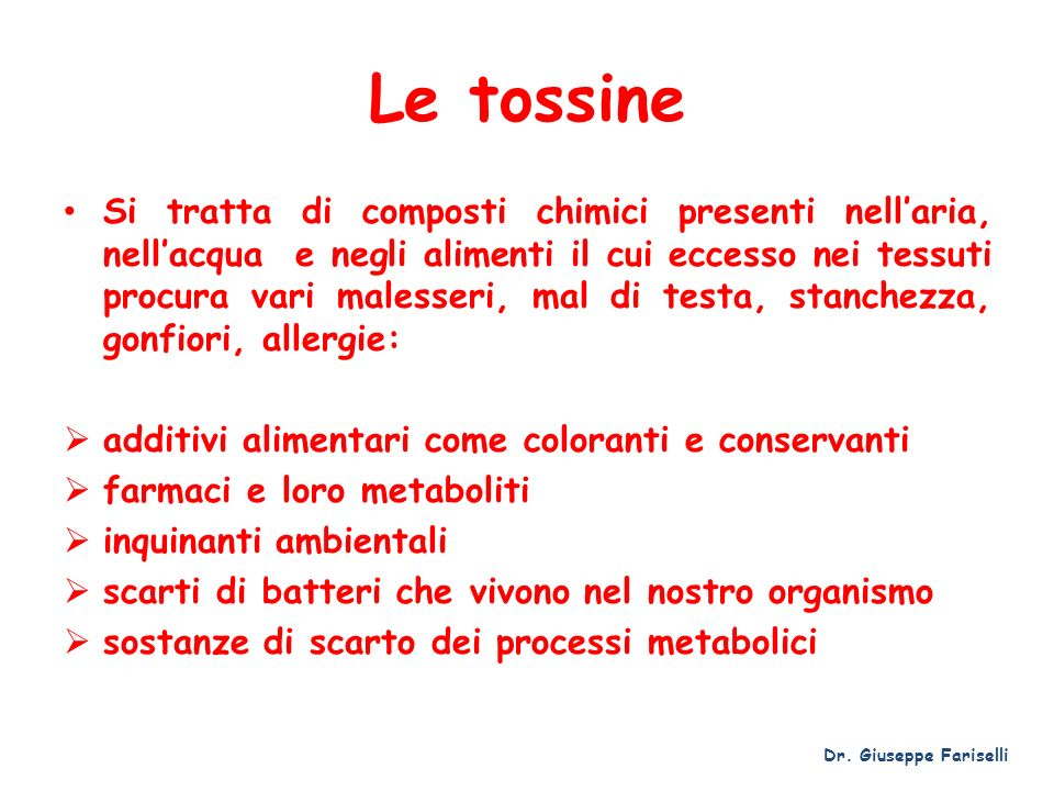 Le tossine