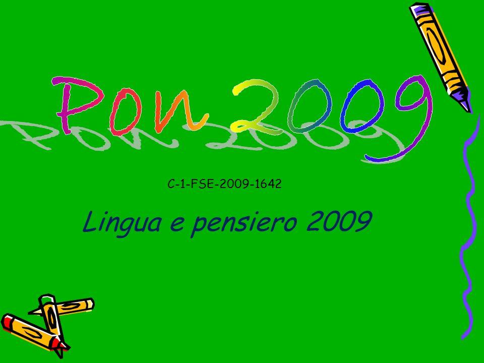 Pon 2009 C-1-FSE-2009-1642 Lingua e pensiero 2009