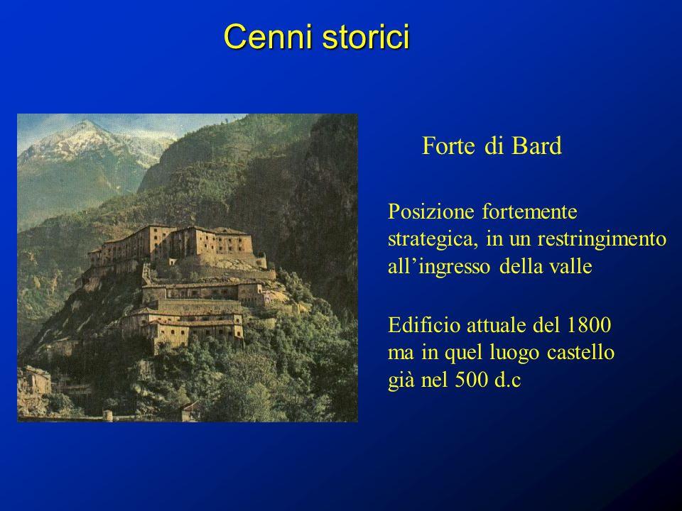 Cenni storici Forte di Bard
