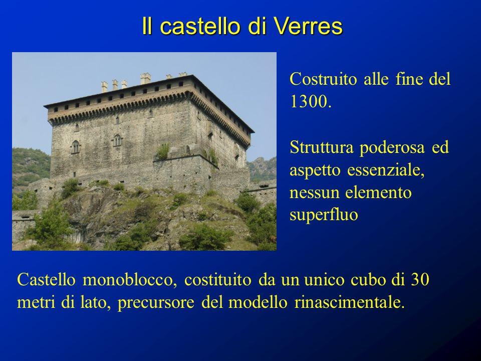 Il castello di Verres Costruito alle fine del 1300.