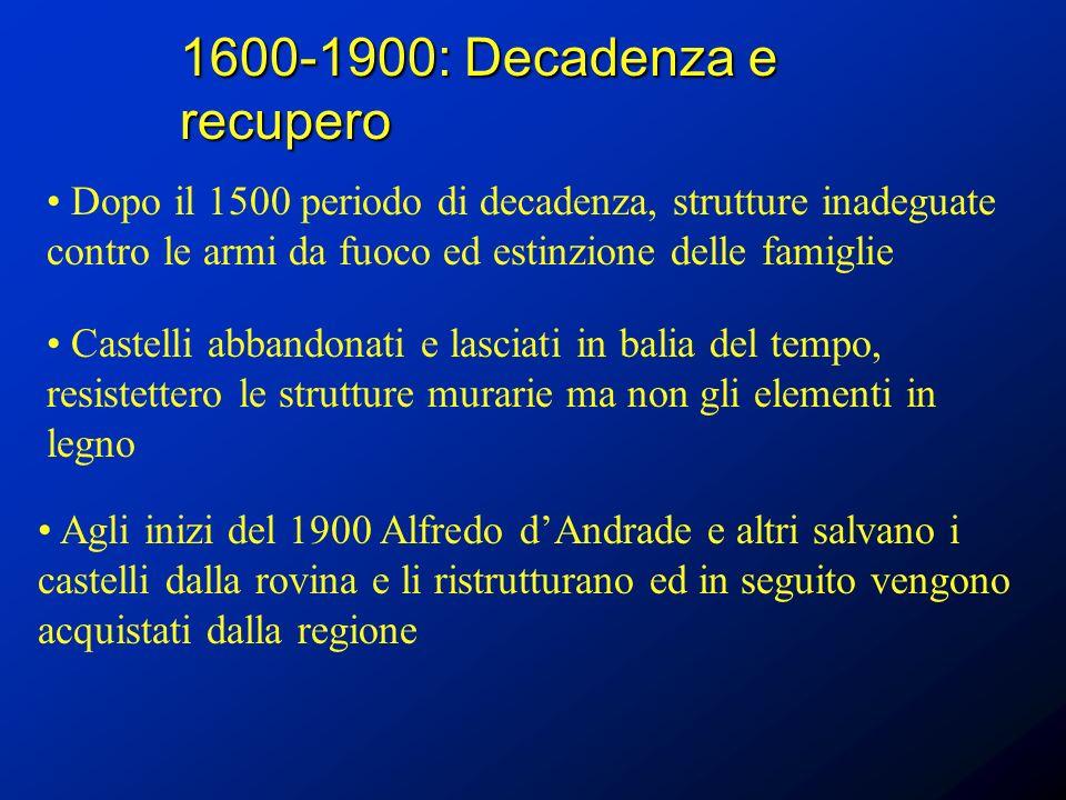 1600-1900: Decadenza e recupero